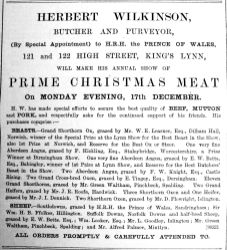 1900 Dec 11th Herbert Wilkinson