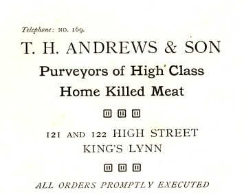 TH Andrews @ 121 & 122 (Holcombe Ingleby Treasures of Lynn)