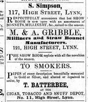 1859 May 14th M & A Gribble @ No 121