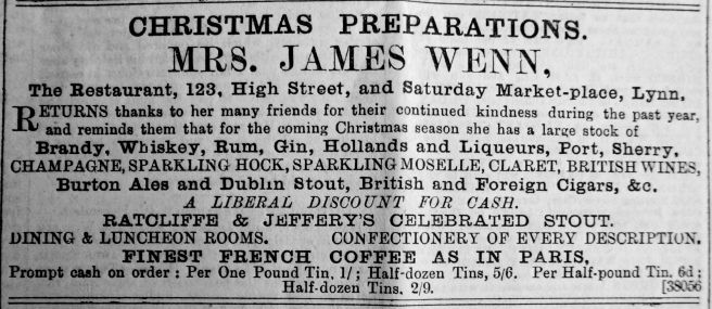 1889 Dec 7th James Wenn