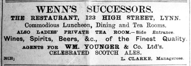 1910 June 24th Successors to Wenns L Clarke