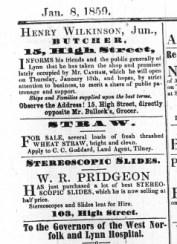 1859 Jan 8th Henry Wilkinson succeeds Thomas Canham @ No 15