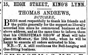1870 Dec 10th Thomas Andrews @ No 15