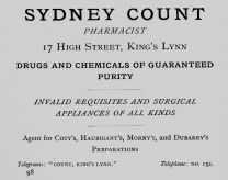 1924 Sydney Count @ 17 (Holcombe Ingleby Treasures of Lynn)