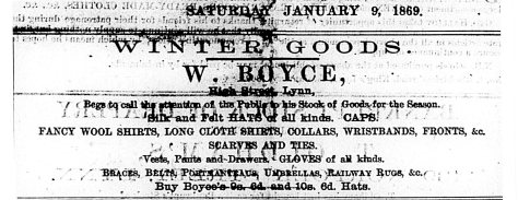 1869 Jan 9th W Boyce