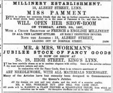 1887 April 2nd Mr & Mrs Workman @ No 18