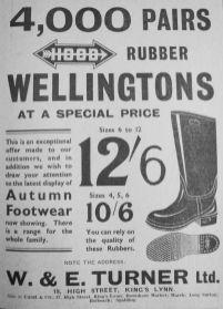 1933 Nov 10th W & E Turner Ltd