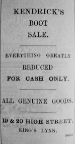 1895 Mar 2nd Kendricks boot sale
