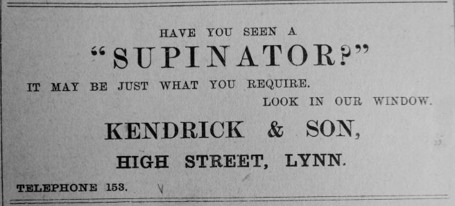 1910 Aug 12th Kendricks SUPINATOR