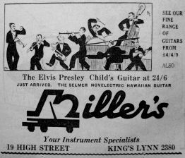 1958 Feb 25th Millers Elvis guitar