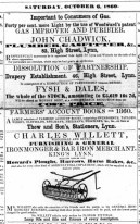 1860 Oct 6th Charles Willett @ Nos 23 to 26