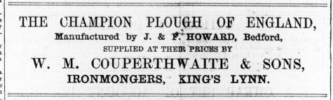 1876 October 21st W M Couperthwaite & Sons @ No. 23