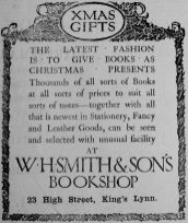 1907 Dec 20th W H Smiths Xmas crop