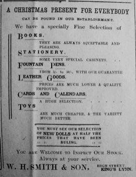 1921 Dec 2nd W H Smith