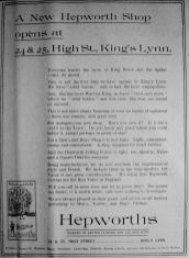 1924 May 23rd Hepworths opens