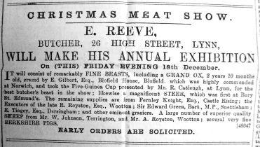 1891 Dec 12th E Reeve