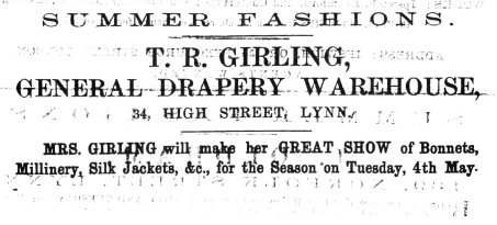 1869 May 1st T R Girling