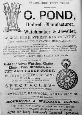 1884 Lynn News Almanack C Pond