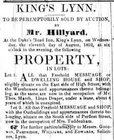 1852 July 24th Property Sale occ T March