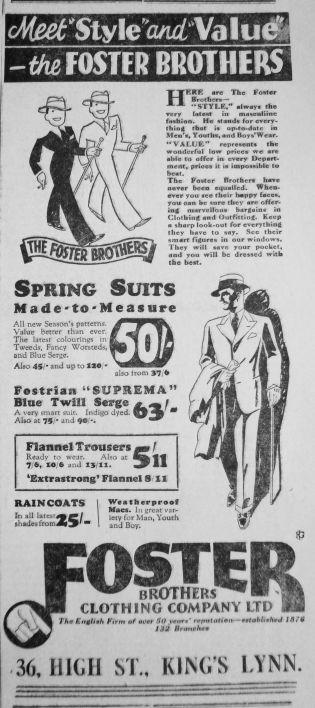 1931 Mar 13th Foster Bros