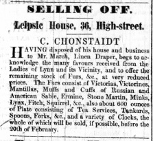 1846 Jan 17th Cohnstaidt sells to March No 36