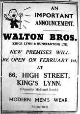 1937 Jan 22nd Walton Bros moving to No 66