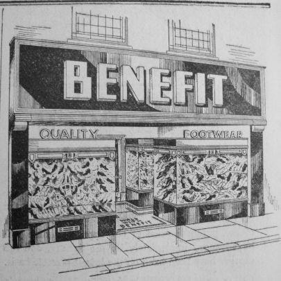1937 Mar 12th Benefit Footwear shopfront