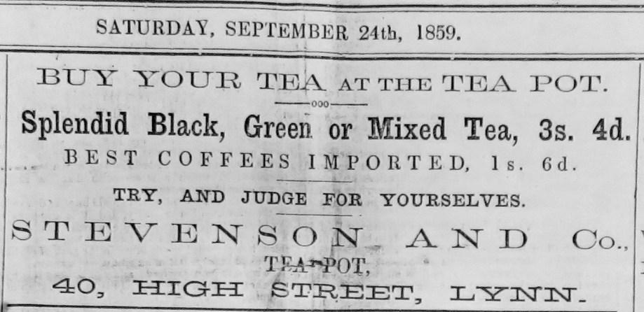1859 Lynn Record Stevenson @ 40 KL Mus