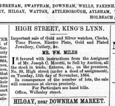 1864 November 12th Sale of Morettis stock @ No 39