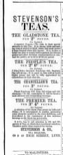 1872 Oct 19th Stevensons Teas @ Nos 39 & 40