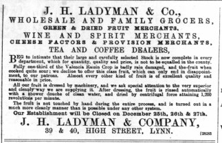 1888 December 15th J H Ladyman @ Nos 39 & 40