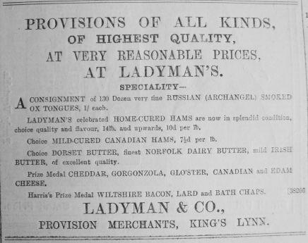 1890 July 26th Ladymans