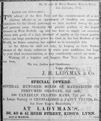 1901 Jan 25th Ladymans