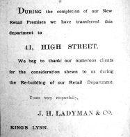 1912 Aug 17th Ladymans rebuilding move