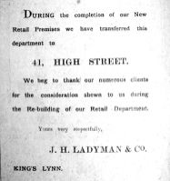1912 Aug 17th Ladymans rebuilding move
