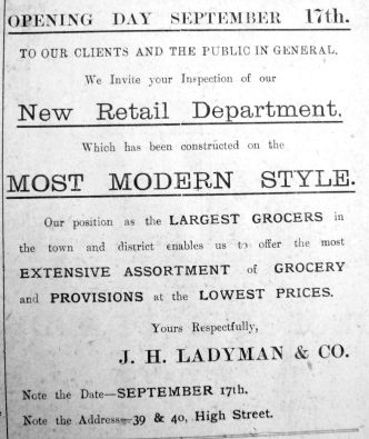 1912 Sept 14th Ladymans reopening 17th