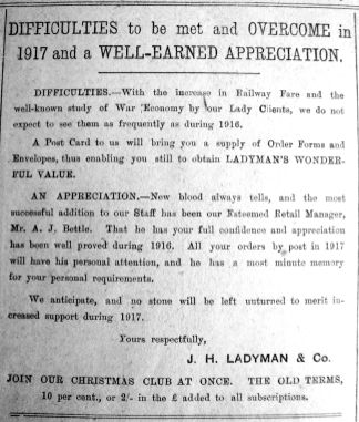 1917 Jan 12th Ladymans Retail Mgr