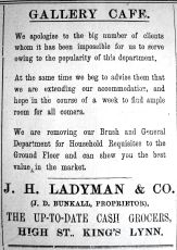 1921 July 22nd Ladymans Gallery Cafe