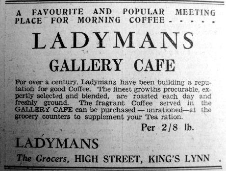 1944 Nov 10th Ladymans Gallery Cafe