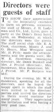 1947 Mar 18th Ladymans staff party 3
