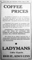 1951 June 1st Ladymans