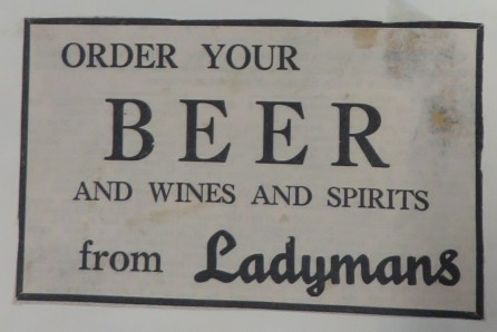 1961 December licensed to sell beer Ladymans Archive (Ashley Bunkall) 0425