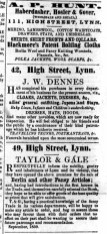 1859 Oct 15th JW Dennes @ No 42