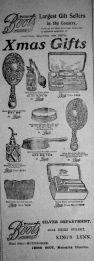 1909 Dec 10th Boots Xmas