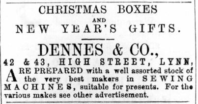 1872 Dec 21st Dennes & Co @ Nos 42 & 43