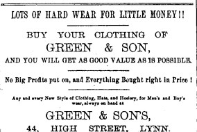 1889 Oct 9 Lyn News Green & Sons 44