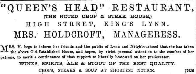 1883 Oct 20th Queens Head No 45