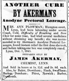 1845 Dec 13th James Akerman @ 46