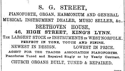 1889 Feb 16th S G Street @ No 46