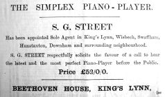 1902 Dec 19th Streets Simplex piano player